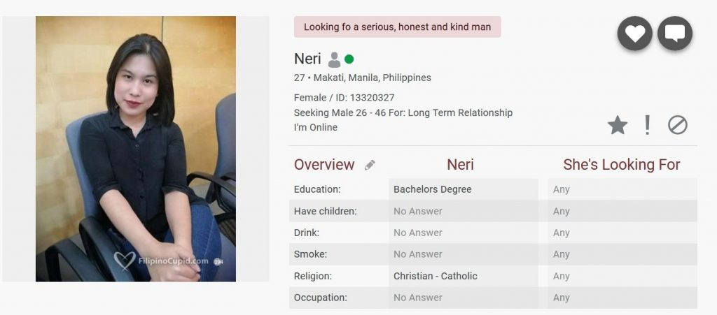 filipino cupid profile